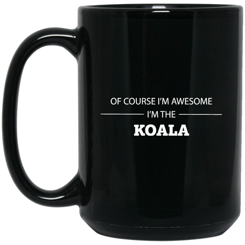 Koala Awesome 15 oz. Black Mug - Ultrakoala Trial, Hiking, Biking and Camping Gear