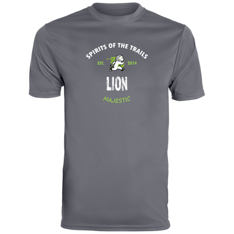 Lion - Est. 2014 Men's Moisture Wicking T-Shirt - Ultrakoala Trial, Hiking, Biking and Camping Gear