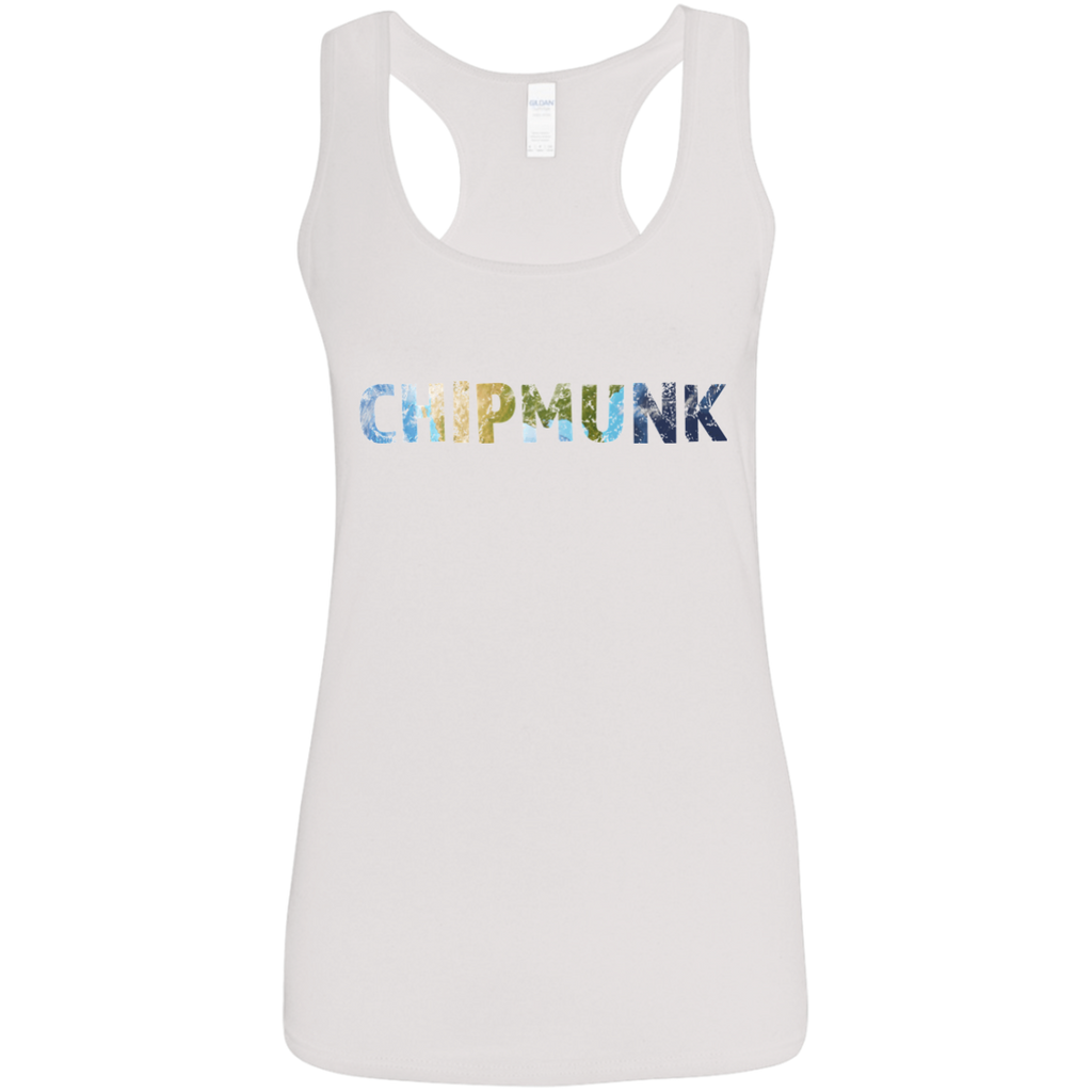 Chipmunk - Ladies' Softstyle Racerback Tank - Ultrakoala Trial, Hiking, Biking and Camping Gear
