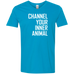 Channel Your Inner Animal - Men's Softstyle 4.5 oz V-Neck T-Shirt - Ultrakoala Trial, Hiking, Biking and Camping Gear
