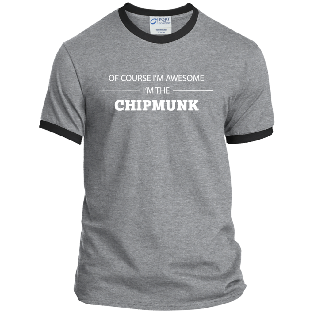 Awesome Chipmunk - Men's Ringer Tee - Ultrakoala Trial, Hiking, Biking and Camping Gear