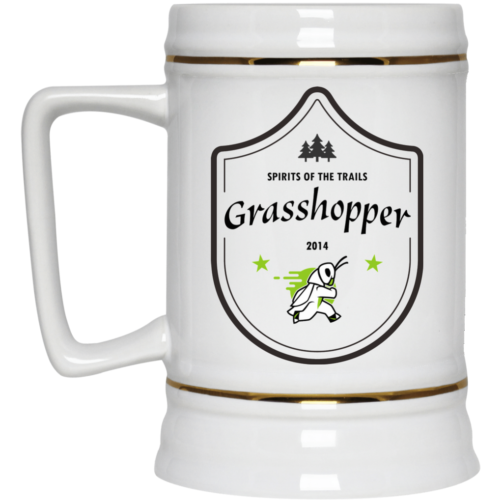 Grasshopper - Medallion Beer Stein 22oz. - Ultrakoala Trial, Hiking, Biking and Camping Gear