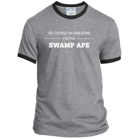 Awesome Swamp Ape - Men's Ringer Tee - Ultrakoala Trial, Hiking, Biking and Camping Gear