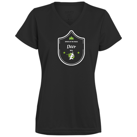 Deer - Medallion 100% polyester Wicking Ladies'  T-Shirt - Ultrakoala Trial, Hiking, Biking and Camping Gear