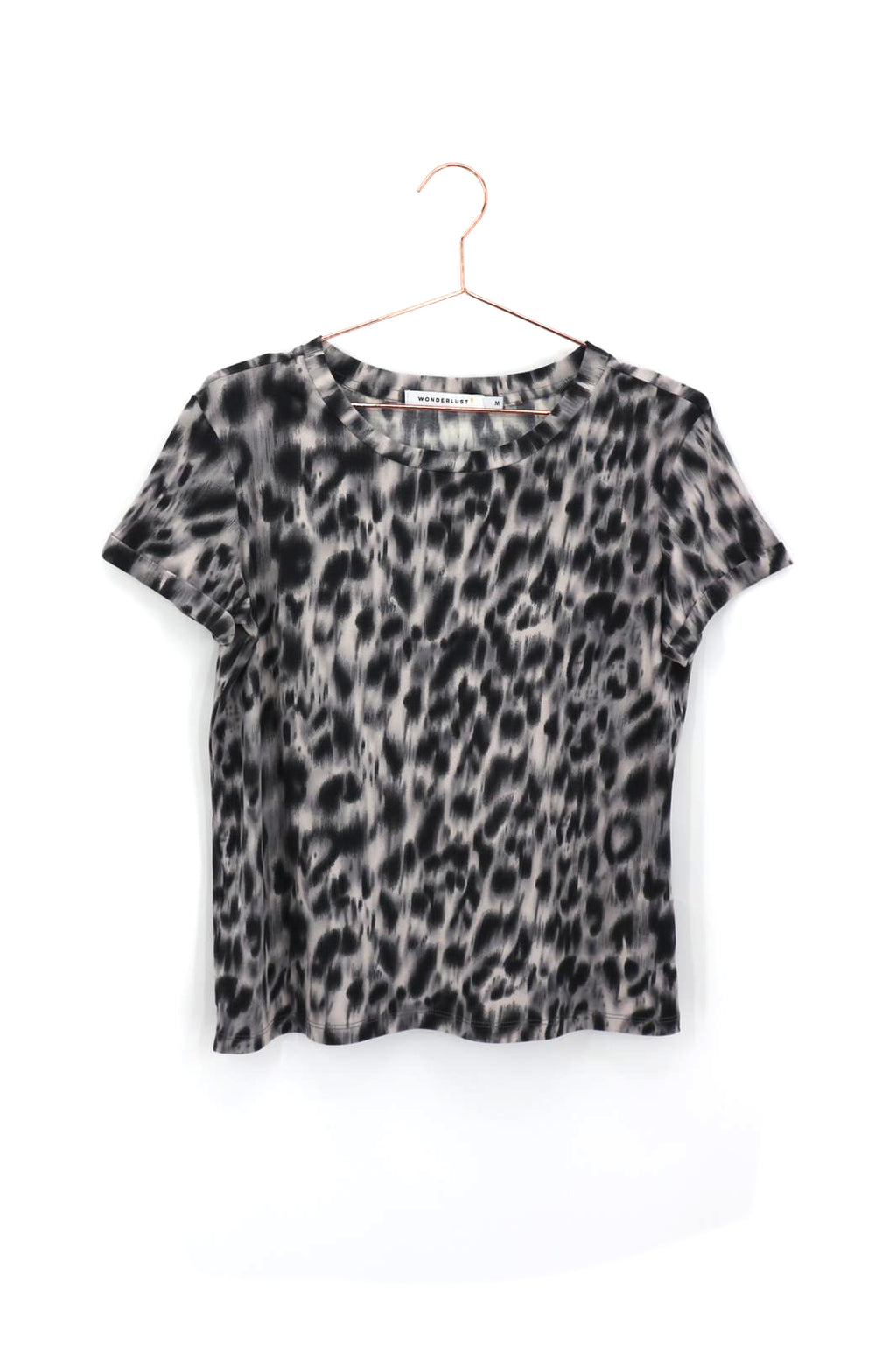 Miffy T Shirt Silver Leopard
