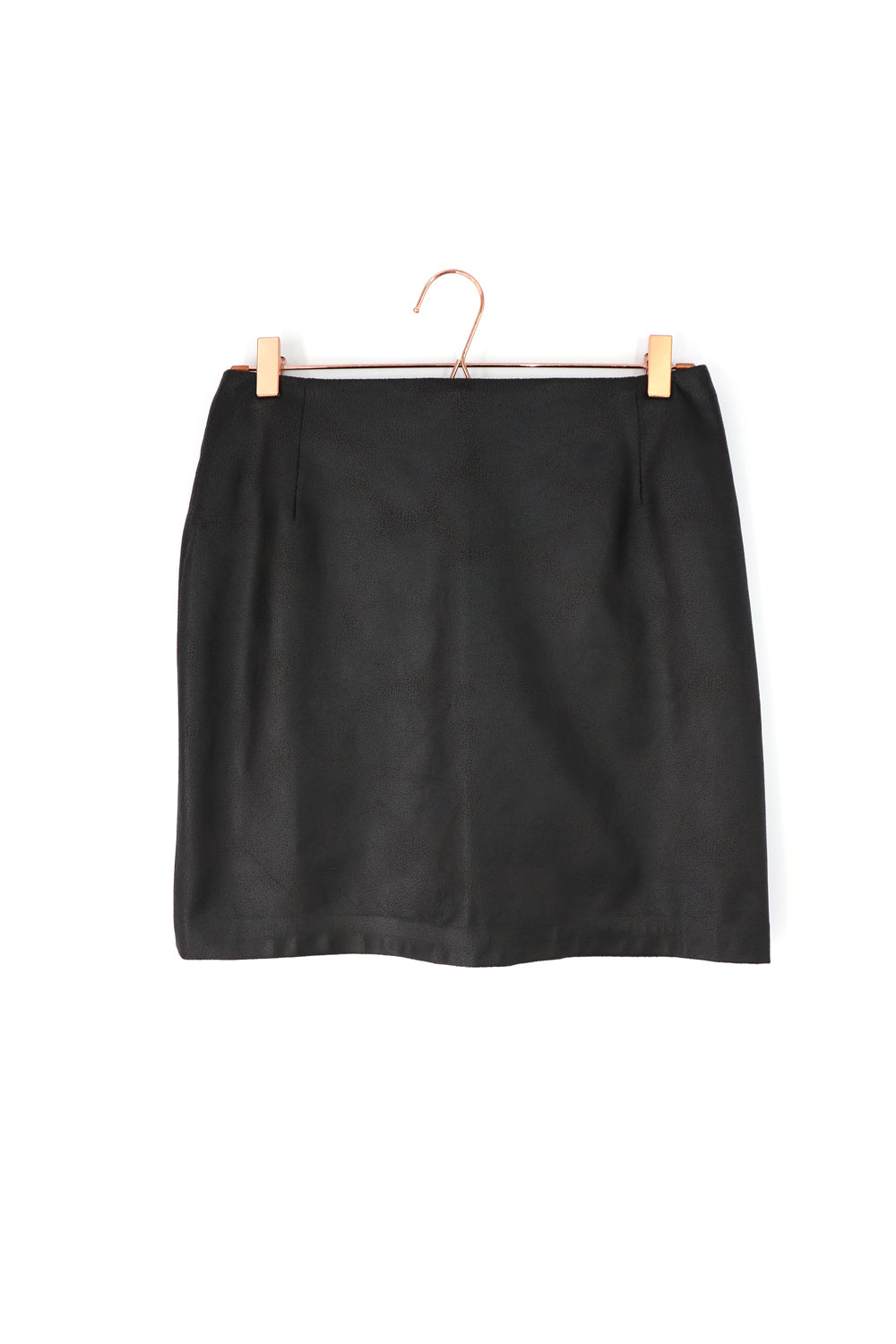 Pleather Mini Skirt Black