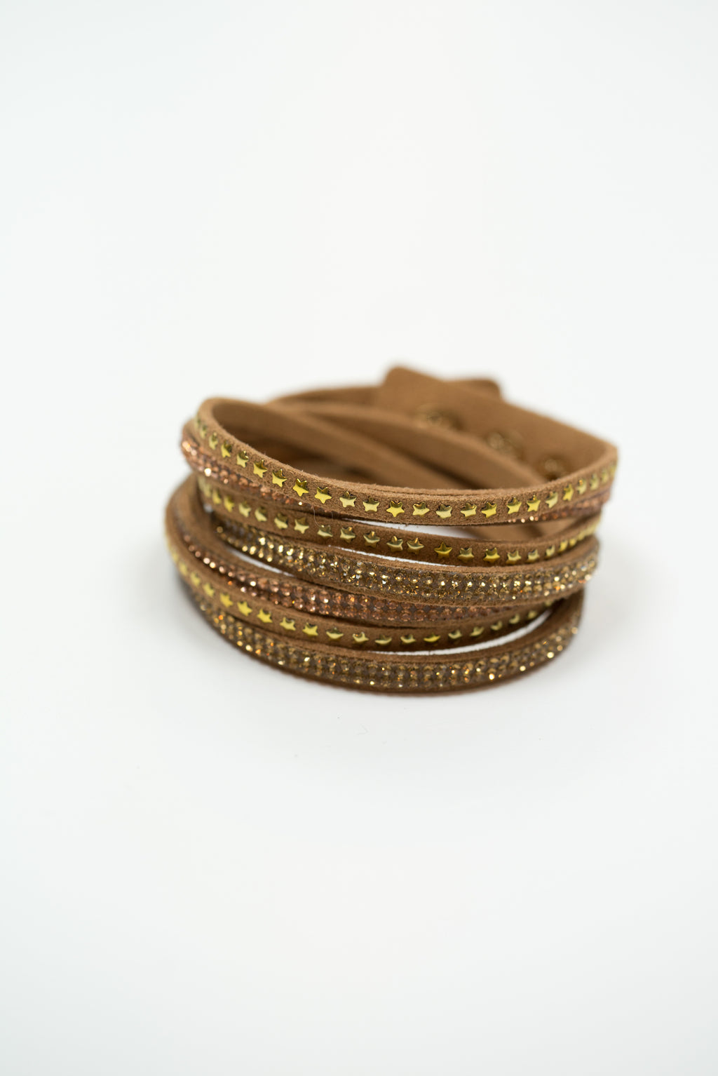 Crystal Studded Wrap Bracelet