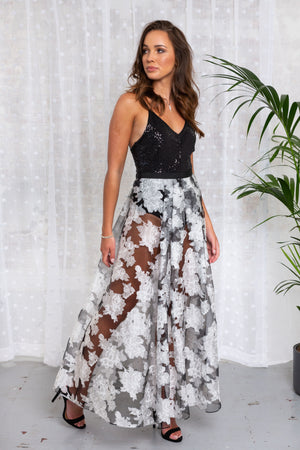 Princess Grace Organza Maxi Skirt