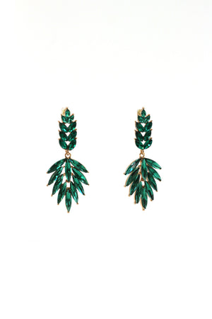 Crystal Tips Statement Earrings