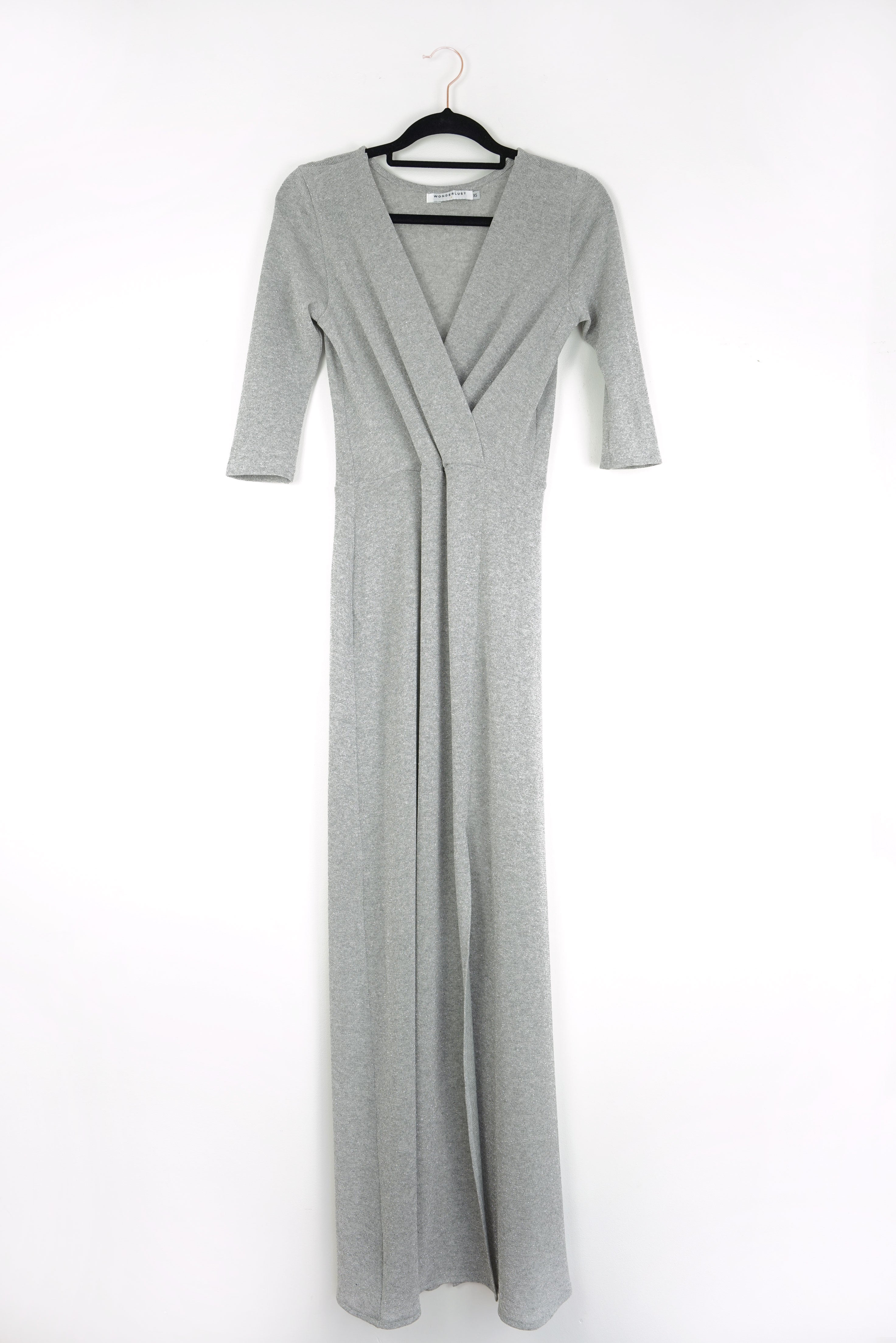 Disco Dunst Column Wrap Dress