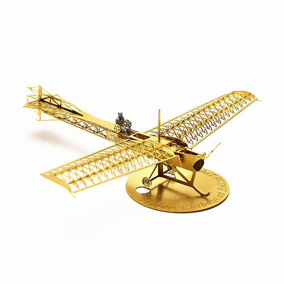 1/160 Scale 3D DIY Brass Etched Model Kit Antoinette IV 1909 RC Airplane Metal Puzzle Toy Adult-Electro Shop