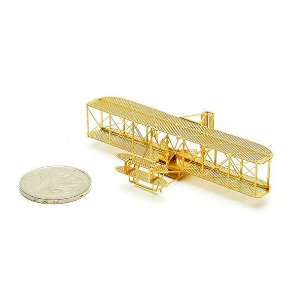 1/160 Scale 3D DIY Brass Etched Model Kit Wright Biplane RC Airplane Metal Puzzle Miniature Adult-Electro Shop