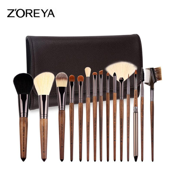 15 Pinceis De Maquiagem Professional Makeup Brush Set Grande Fundação Powder Blush Kabuki Cosmetic Make Up 15pcs Professional Makeup Brush Set Grande Fundação Powder Blush Kabuki Cosmetic Make Up Kit de ferramentas Brochas-Electro Shop
