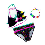 2016 New Summer Bathing Suit Girls split Two-pieces Swimwear, Children Cute Star Pattern Split Bikini Girls Swimsuit Wholesale-Electro Shop