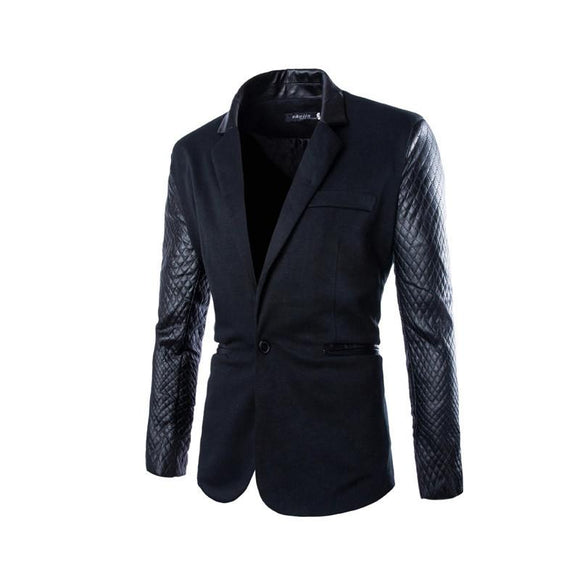 Blazers Masculina New Arrival Casual Fit Stylish Patchwork de alta qualidade-Electro Shop