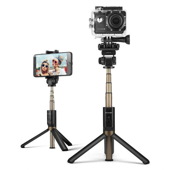BlitzWolf BW-BS3 Sports Versatile 3 in 1 Bluetooth Tripod Selfie Sticks for Sport Camera Phone-Electro Shop