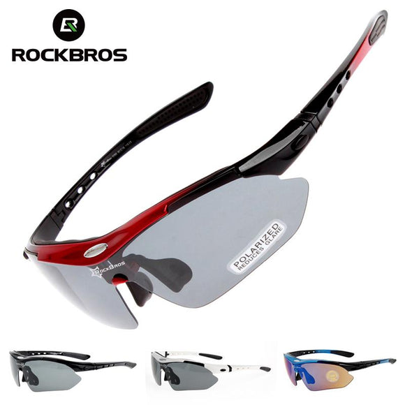 Óculos de Ciclismo Outdoor Sports Rock Bros Polarized Eyewear 5 Lentes-Electro Shop