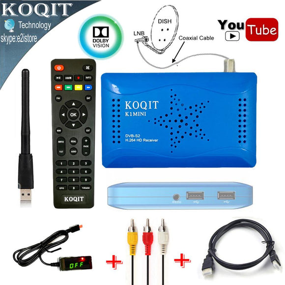 Receptor de Satélite Digital DVB-S2 1080 P Dual USB Gscam & Power Vu IKS Cccam Youtube Wifi-Electro Shop
