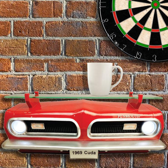 1969 PLYMOUTH BARRACUDA FRONT WALL SHELF