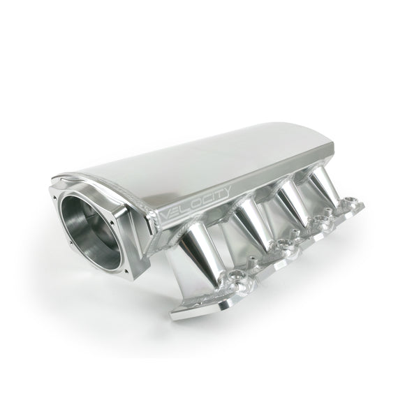 Top Street Performance Intake Manifold - TSP Velocity Fab. Aluminum Cathedral Port Angled, Anodized