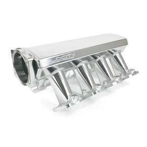 Top Street Performance Intake Manifold - TSP Velocity Fab. Aluminum Cathedral Port Hi-Ram, Anodized