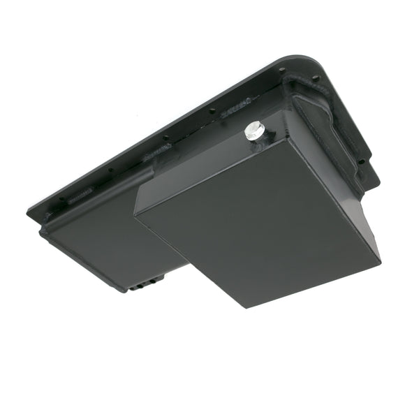 Top Street Performance Oil Pan - Fabricated Aluminum Front Sump 7-Quart - LS, Black