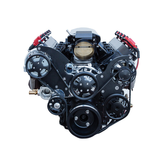 Top Street Performance Serpentine Front Drive System - LS1/LS2, All Black