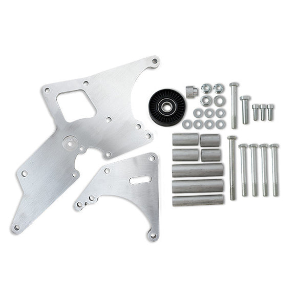 Top Street Performance Relocation Bracket - Aluminum Alt./P. S. - LS1, LS2 Car Applications, Machined