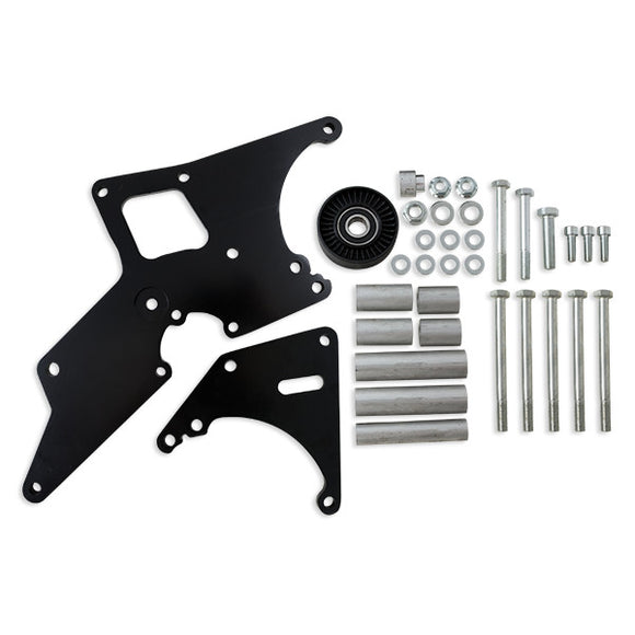 Top Street Performance Relocation Bracket - Aluminum Alt./P. S. - LS1, LS2 Truck Applications, Black