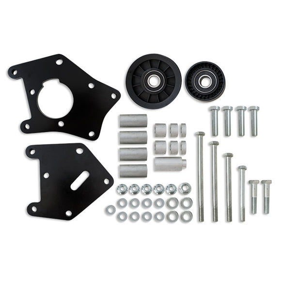 Top Street Performance Relocation Bracket - Aluminum A/C - LS1, LS2 Truck Applications, Black