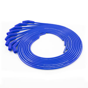 Top Street Performance Universal Ignition Wires - 8.5mm Blue, 135? Plug Boots
