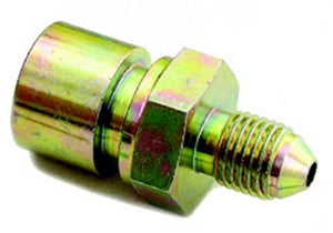 #4 to 7/16-24 Inverted Female Steel Adapter