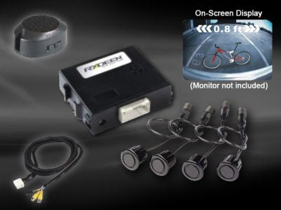 Rydeen Mobile Reverse Parking Sensors (4) With Onscreen Video Output