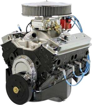 BluePrint Engines 350CI Crate Engine Small Block GM Style Dressed Longblock with Carburetor