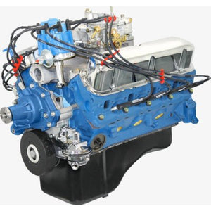 BluePrint Engines 302CI Crate Engine Small Block Ford Style Dressed Longblock with Carburetor