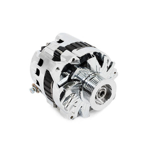 Top Street Performance Alternator - GM CS130 Serpentine Belt 110 Amps, Chrome