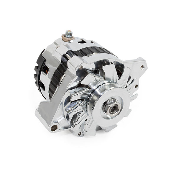 Top Street Performance Alternator - GM CS130 V-Belt 160 Amps, Chrome