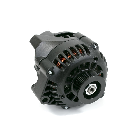 Top Street Performance Alternator - GM CS130D Serpentine Belt 180 Amps, Chrome - LS Car Engines