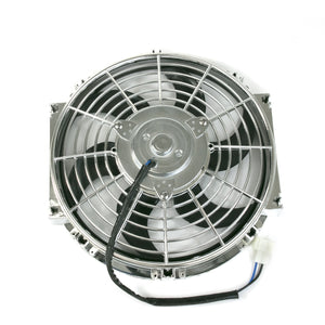 "Top Street Performance Universal Radiator Fan - S-Blade - 10"" Chrome"