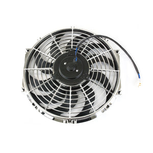 "Top Street Performance Universal Radiator Fan - S-Blade - 12"" Chrome"
