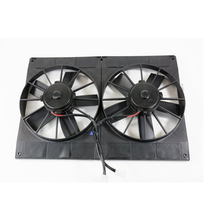 "Top Street Performance Universal Dual Radiator Fan - Straight Blade - 11"" Black"