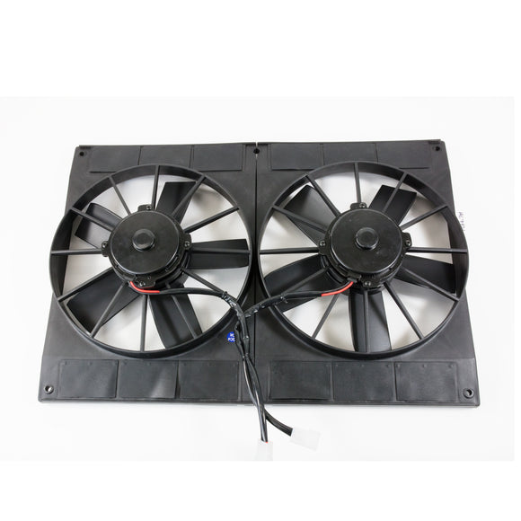 Top Street Performance Universal Dual Radiator Fan - Straight Blade - 11