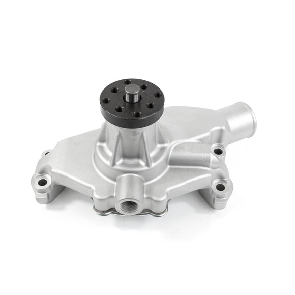 Top Street Performance Mechanical Water Pump - Aluminum, Satin - Chevrolet Small Block Short Neck