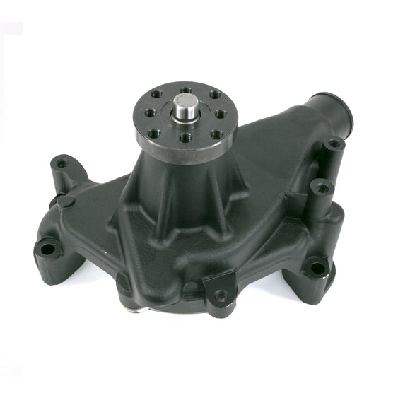 Top Street Performance Mechanical Water Pump - Aluminum, Black - Chevrolet Small Block Long Neck