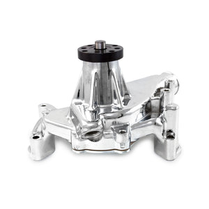 Top Street Performance Mechanical Water Pump - Aluminum, Chrome - Chevrolet SB Long Neck, Reverse