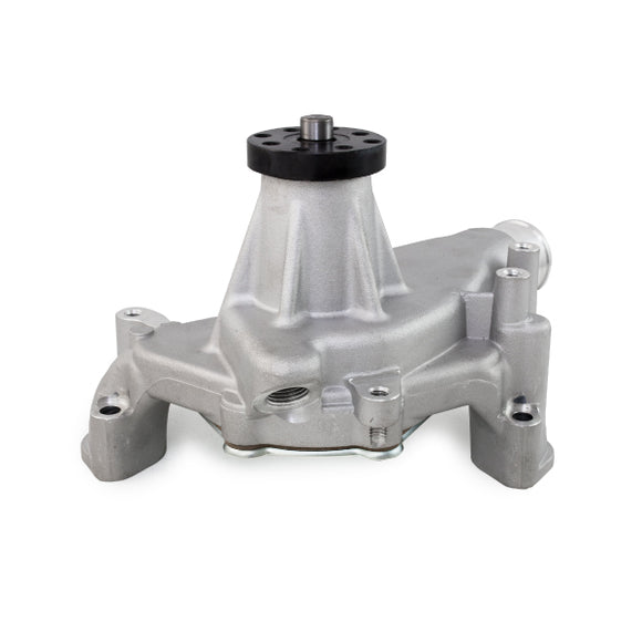 Top Street Performance Mechanical Water Pump - Aluminum, Satin - Chevrolet SB Long Neck, Reverse
