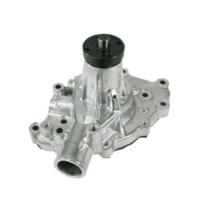 Top Street Performance Mechanical Water Pump - Aluminum, Polished - SBF (289, 302, 351W) P/S Outlet