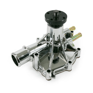Top Street Performance Mechanical Water Pump - Aluminum, Chrome - Ford Small Block, Reverse