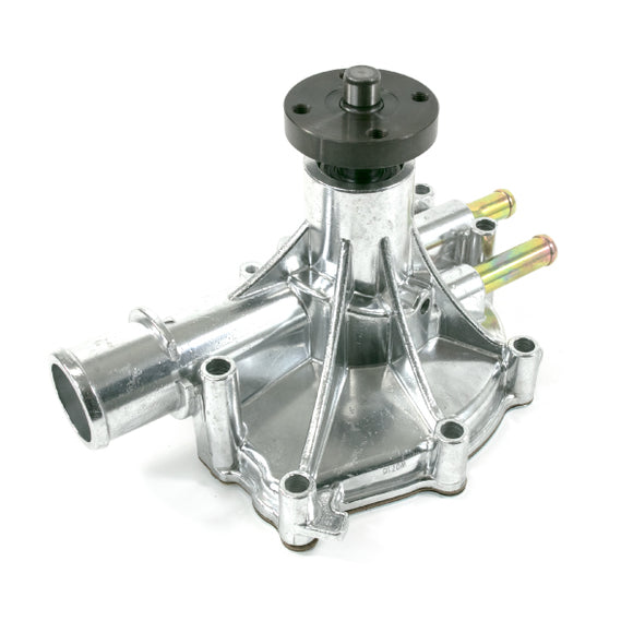 Top Street Performance Mechanical Water Pump - Aluminum, Polished - Ford Small Block, Reverse