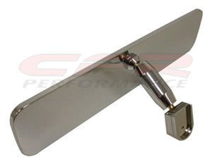 CHEVY/FORD/MOPAR POLISHED ALUMINUM REAR VIEW MIRROR - SMOOTH